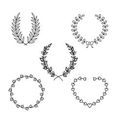 Calligraphic wreath vector image
