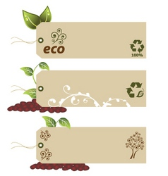 ecology tags vector image vector image