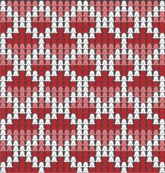 Knitted texture with white ornament vector image