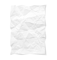 Paper on white vector image