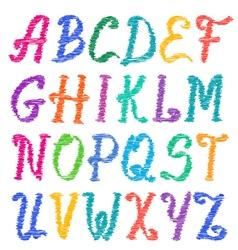 Sketched alphabet set vector image