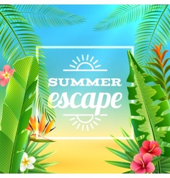 Tropical Plants Background vector image