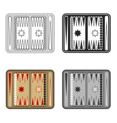 backgammon icon in cartoon style isolated on white vector image vector image