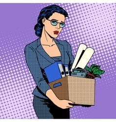 Business woman fired from work sad vector image vector image