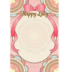 pastel pink peach cute bohemian scribble round vector image vector image