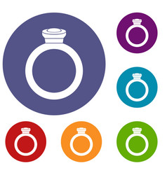 ring icons set vector image vector image