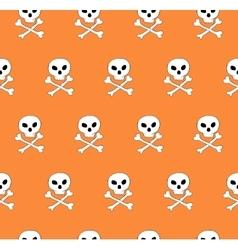 Skull and bones seamless pattern vector image