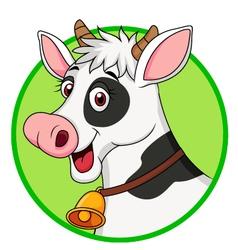Cute cow cartoon vector image vector image