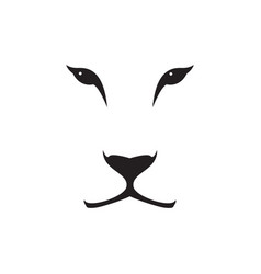 image of a lioness head on white background vector image vector image