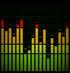 music equaliser - frequency graph vector image
