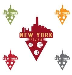 New York pizza concept design template vector image
