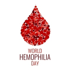 World Hemophilia Day design template vector image