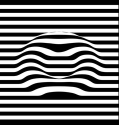 3d line effect torus lying on plain abstract vector