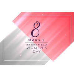 8th march happy womens day card design vector