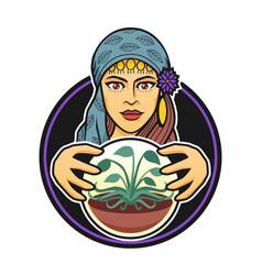 A gypsy woman vector