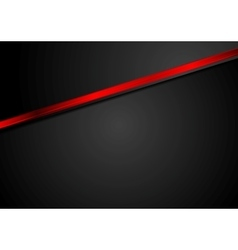 Abstract black corporate background with red vector