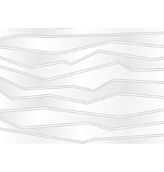 Abstract grey white stripes tech background vector image