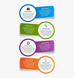 Abstract infographic template Design elements vector image vector image