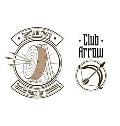 Archery logo vector