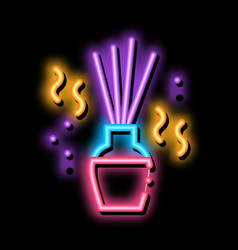 Aroma sticks neon glow icon vector