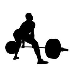 Athlete powerlifter exercise deadlift vector