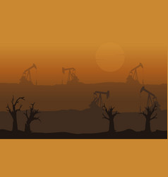 Bad environment with disafforest landscape vector