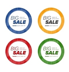 Big sale circle stickers vector image