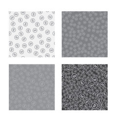 bitcoin seamless pattern white seamless vector image