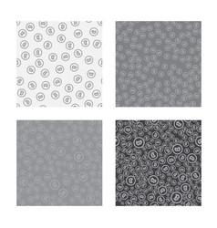 Bitcoin seamless pattern white seamless vector