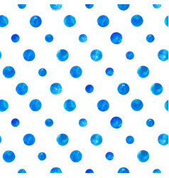 Blue watercolor circles seamless pattern vector