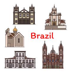 Brazilian travel landmark rio de janeiro icon vector