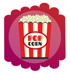 bright flat popcorn icon the sign of the cinema vector image