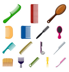 brush and hair symbol vector image