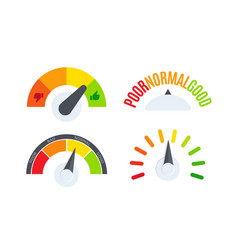 business performance company review scale logo set vector image