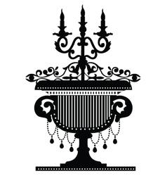 Candelabra silhouette vector
