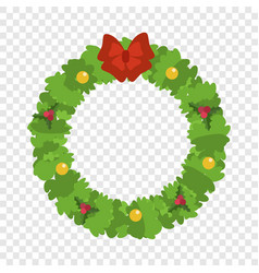 christmas wreath icon flat style vector image