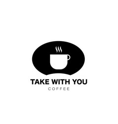 coffee take with you cup icon in flat style drink vector image