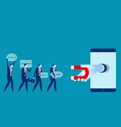 consumer data collection concept technology vector image