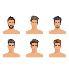 create change of hairstyle choices for men vector image