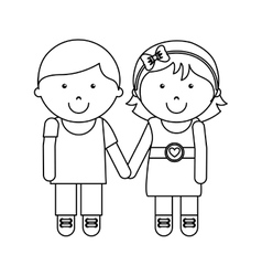 Cute little couple character vector