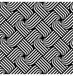 Design seamless monochrome interlaced pattern vector