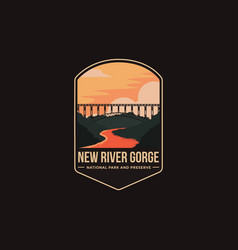 Emblem patch new river gorge national park vector