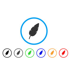 feather rounded icon vector image