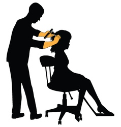 Female hairdresser vector image