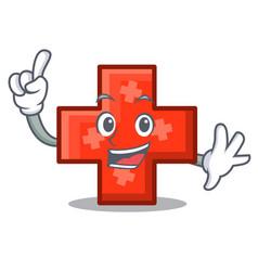 Finger cross mascot cartoon style vector