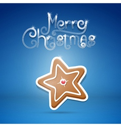 gingerbread star vector image