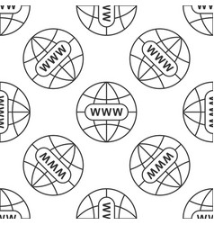 go to web icon seamless pattern www icon vector image