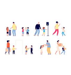 Good manners children help person good habits vector