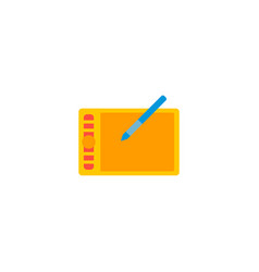 Graphic tablet icon flat element vector