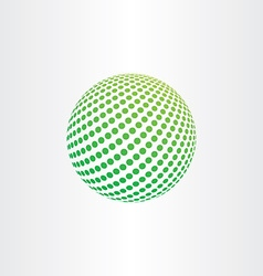 green eco globe ball icon vector image